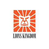 Graphic Lion head icon logo design Royalty Free Stock Photography