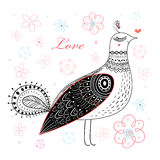 Graphic love bird Stock Photo