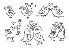 Graphic love bird, vector Stock Images
