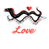 Graphic love Moray Royalty Free Stock Photos
