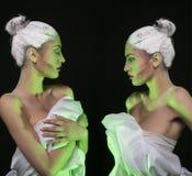 Graphic makeup model Royalty Free Stock Photos