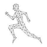 Graphic man running, vector Stock Photo
