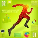 Graphic man sport, vector. Illustration royalty free illustration