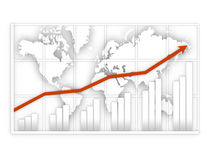Graphic map with positive Royalty Free Stock Photo
