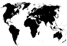 Graphic map of the world Royalty Free Stock Photos