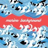 Graphic Marine background Royalty Free Stock Photo