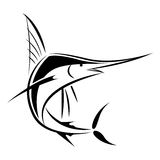 Graphic marlin, vector. Graphic black marlin on white background, vector illustration Royalty Free Stock Photography