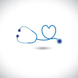 Graphic of medical diagnostic tool- stethoscope an Stock Photos