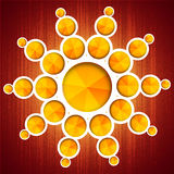 Graphic metaball. With yellow triangle Stock Images