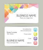Graphic modern business card. Colorful template vector illustration