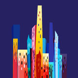 Graphic modern city Royalty Free Stock Photography