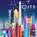 Graphic modern city Royalty Free Stock Photos