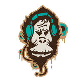 Graphic monkey Royalty Free Stock Image