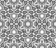 Graphic moroccan ornament in vector. Black and white moroccan ornament in vector, seamless pattern Royalty Free Stock Images