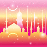 Graphic mosques and month Stock Photo