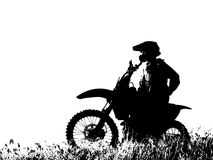 Graphic Motorcycle Rider Stock Image