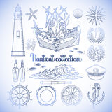 Graphic nautical collection Stock Images