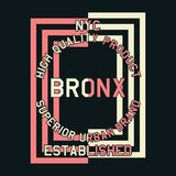 Graphic nyc quality product bronx Stock Photo