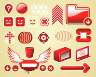 A graphic objects set Stock Images