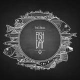 Graphic ocean fish design Stock Photo
