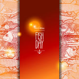 Graphic ocean fish design Stock Photography