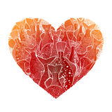 Graphic ocean fish in the shape of heart Royalty Free Stock Photos