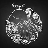 Graphic octopus in a circular shape Royalty Free Stock Photos