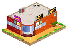 Graphic Of Isometric Mall Royalty Free Stock Photo