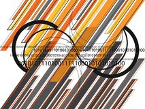 Graphic orange grey lines 01 Royalty Free Stock Photo