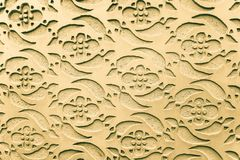 Graphic ornament on the wall. Spanish pattern style. Stock Photography