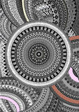 Graphic ornamental background. Grey, black and white Royalty Free Stock Photography