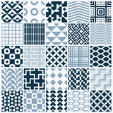 Graphic ornamental tiles collection, set of monochrome vector re Royalty Free Stock Photography