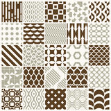Graphic ornamental tiles collection, set of  repeated patt Royalty Free Stock Images