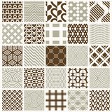 Graphic ornamental tiles collection, set of vector repeated patt. Erns. 25 vintage art abstract textures can be used as wallpapers Royalty Free Stock Images