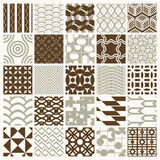 Graphic ornamental tiles collection, set of vector repeated patt Royalty Free Stock Photography