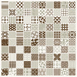 Graphic ornamental tiles collection, set of vector repeated patt. Erns. 100 vintage art abstract textures can be used as wallpapers Royalty Free Illustration