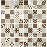 Graphic ornamental tiles collection, set of vector repeated patt Stock Photography