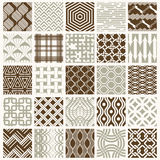 Graphic ornamental tiles collection, set of vector repeated patt Royalty Free Stock Photos