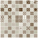 Graphic ornamental tiles collection, set of vector repeated patt Stock Photo