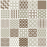 Graphic ornamental tiles collection. Set of vector repeated patterns. 25 vintage art abstract textures can be used as wallpapers Royalty Free Stock Images
