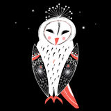Graphic owl Stock Photography