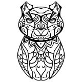 Graphic owl Stock Photos