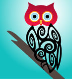 Graphic Owl Royalty Free Stock Photo