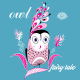 Graphic owl Royalty Free Stock Photography