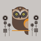 Graphic owl Royalty Free Stock Photos