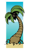 Graphic of palm tree. Cartoon-like graphic of palm tree Royalty Free Stock Images