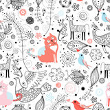 Graphic pattern of animals Stock Images