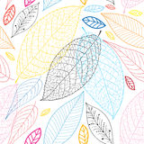 Graphic pattern of autumn leaves Stock Photo
