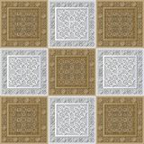 Graphic pattern with a bas-relief of Ramadan 34. Graphic abstract decorative tile with Ramadan patterns. Suitable for textile, wallpaper, wrapping, packaging stock illustration