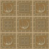 Graphic pattern with a bas-relief of Ramadan 28. Graphic abstract decorative tile with Ramadan patterns. Suitable for textile, wallpaper, wrapping, packaging Stock Image